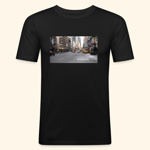 New York Traffic - Männer Slim Fit T-Shirt