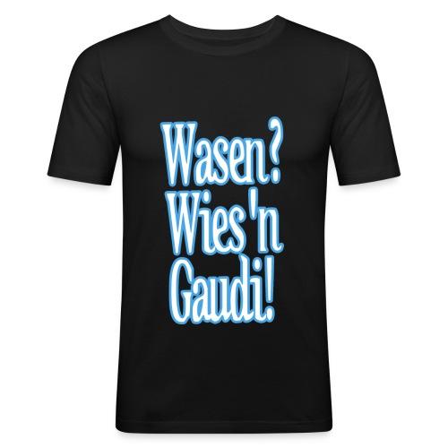 WasenWiesnGaudi Kopie - Männer Slim Fit T-Shirt