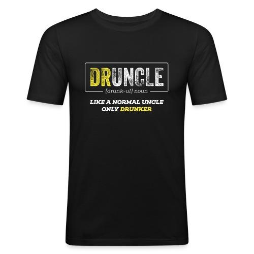 Druncle like a normal uncle only drunker - Männer Slim Fit T-Shirt