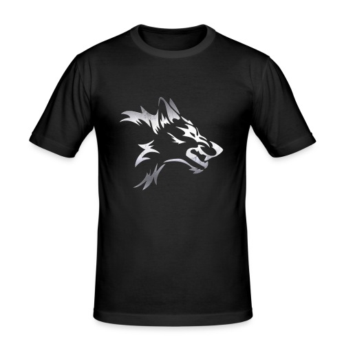 Kizo1991 Silver Wolf - Men's Slim Fit T-Shirt