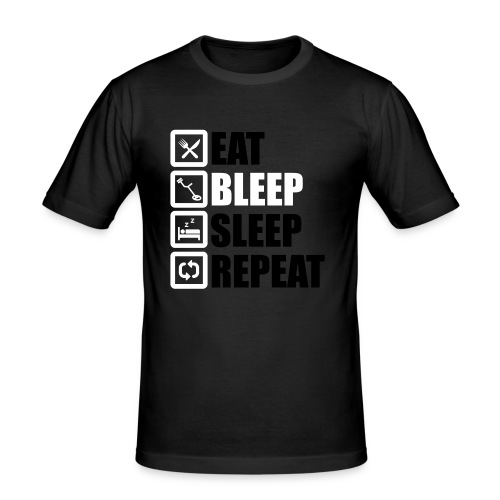 EAT BLEEP SLEEP REPEAT - Men's Slim Fit T-Shirt