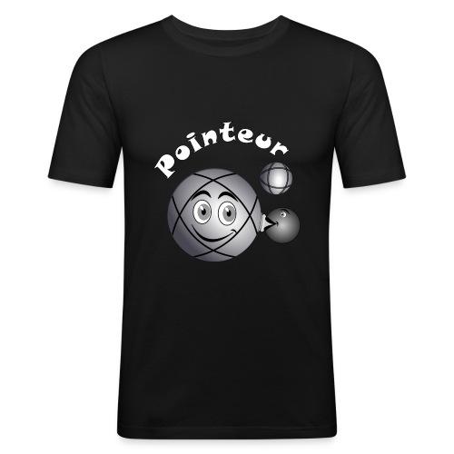 t shirt pétanque pointeur boule existe en tireur B - T-shirt près du corps Homme