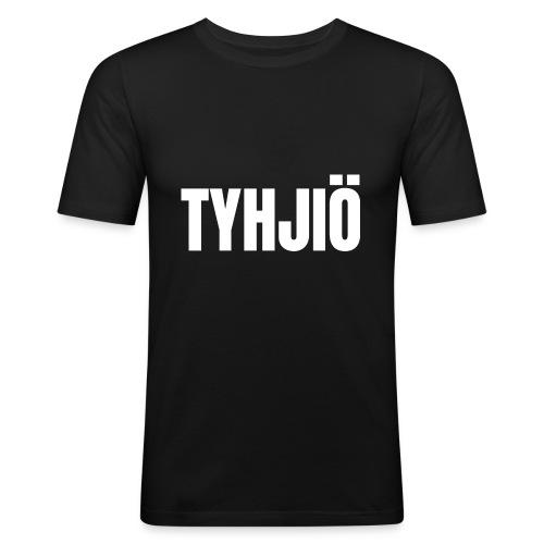 TYHJIÖ Logo White - Miesten tyköistuva t-paita