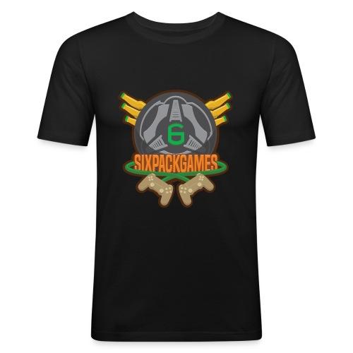 Sixpack Games Logo - Men's Slim Fit T-Shirt