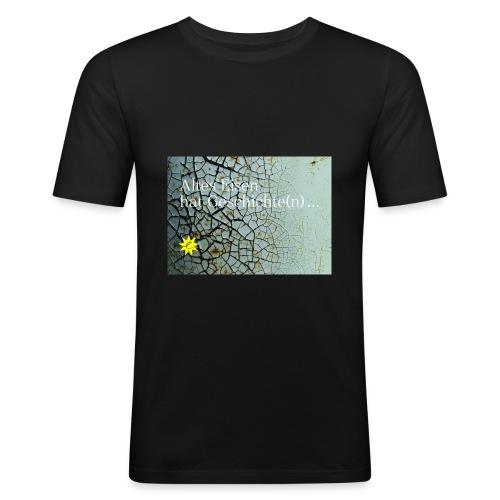 Altes Eisen hat Geschichte(n) ... - Männer Slim Fit T-Shirt