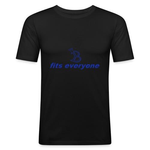 fits eveyone mit b - Männer Slim Fit T-Shirt