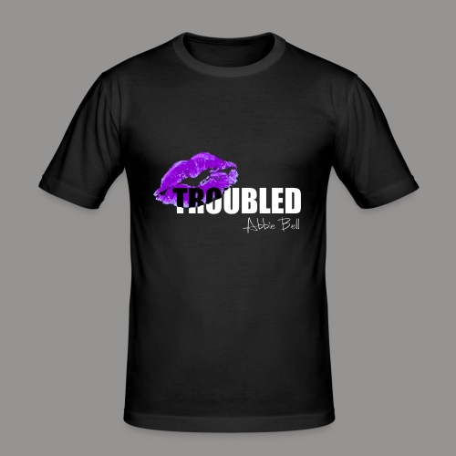 Official TROUBLED logo - Men's Slim Fit T-Shirt