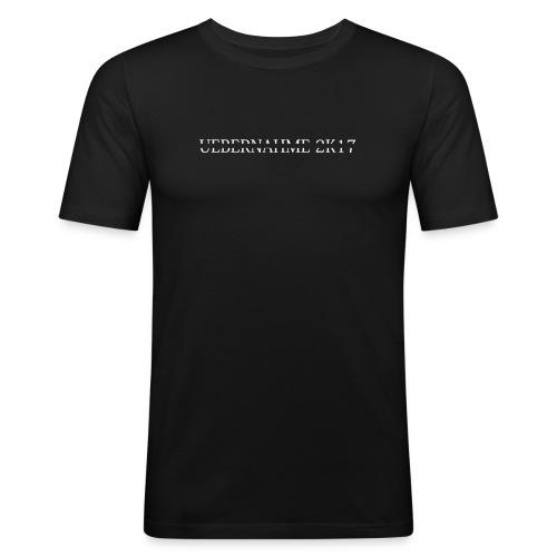 UEBERNAHME 2k17 - Label Shirt - Männer Slim Fit T-Shirt