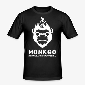 MonkeyzGoDownhill Full Logo - Männer Slim Fit T-Shirt