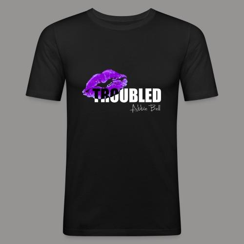 Official TROUBLED logo - Men's Slim Fit T-Shirt
