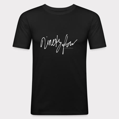NinetyFour WHITE - Männer Slim Fit T-Shirt