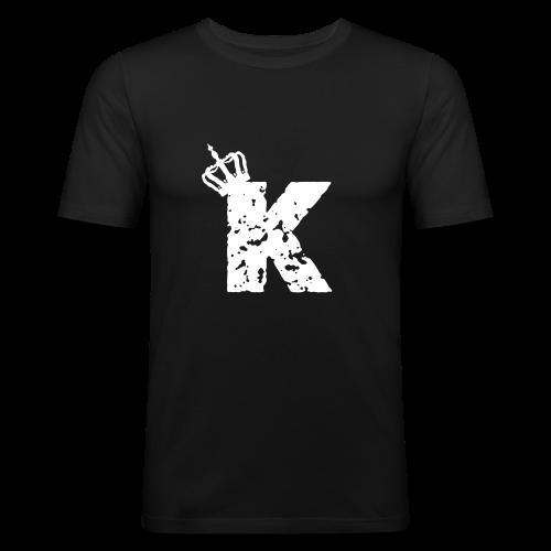 Kinzzyy White - Männer Slim Fit T-Shirt