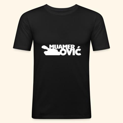tankovic_vit_tryck - Slim Fit T-shirt herr