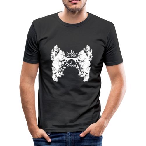 Oxygène blanc - T-shirt près du corps Homme