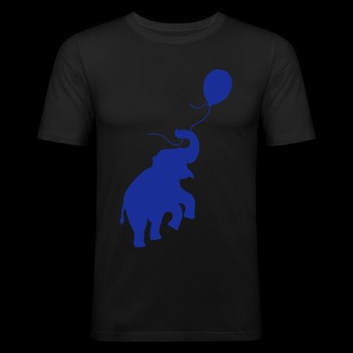 Elefant mit Ballon - Männer Slim Fit T-Shirt