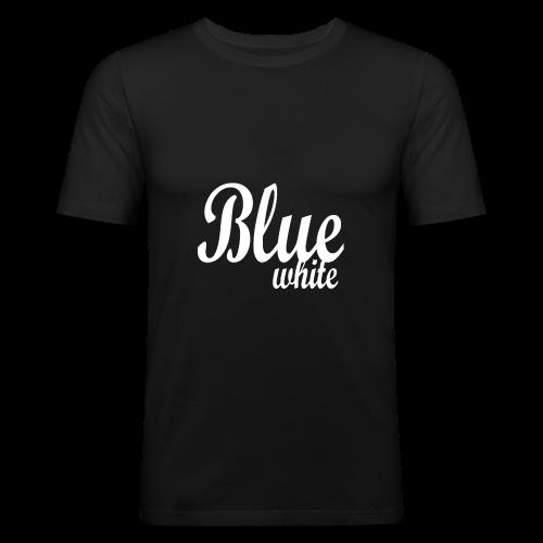 Blue White - Men's Slim Fit T-Shirt