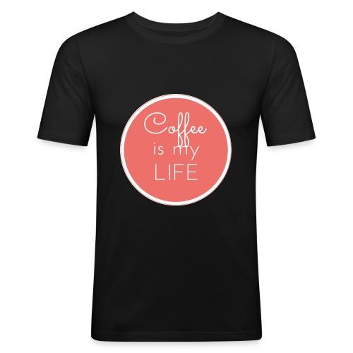 Coffee is my life - Camiseta ajustada hombre