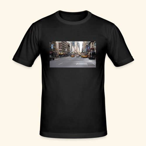 New York Traffic - Männer Slim Fit T-Shirt