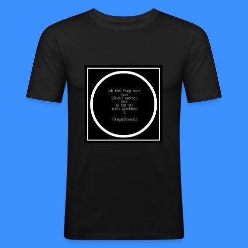 Stegis Schw*nz - Männer Slim Fit T-Shirt