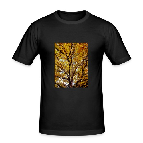 Deepleafs - Männer Slim Fit T-Shirt