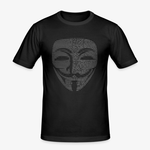 Guy Fawkes Mask Binary - Men's Slim Fit T-Shirt