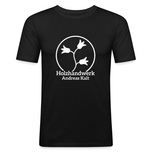 White Holzhandwerk logo - Men's Slim Fit T-Shirt