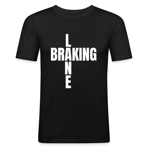 Braking Lane black - Männer Slim Fit T-Shirt