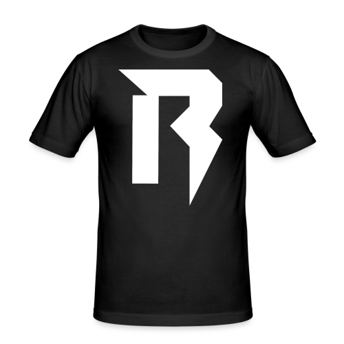 Reverse White - Männer Slim Fit T-Shirt