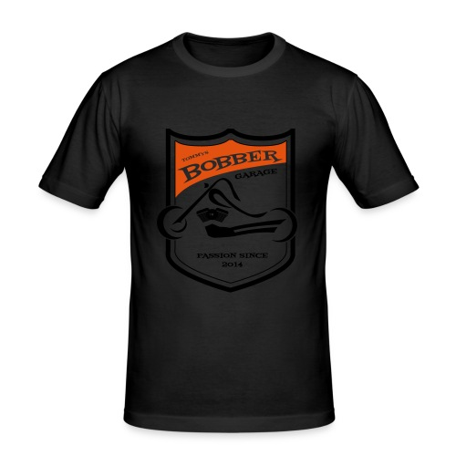 2017 07 Thomas LogoBobberGarage gestanzt - Männer Slim Fit T-Shirt