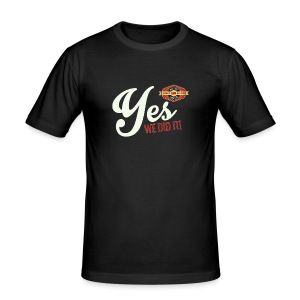 YES-we did it_white - Männer Slim Fit T-Shirt