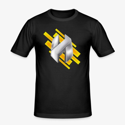 Abstract Yellow - Men's Slim Fit T-Shirt