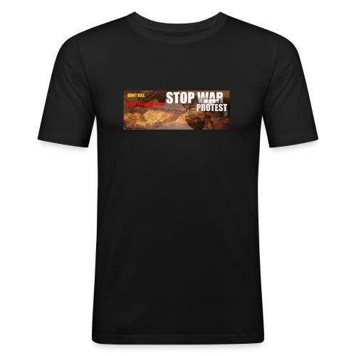 STOP WAR PROTEST - Men's Slim Fit T-Shirt