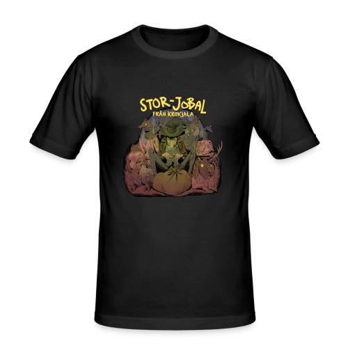 T-shirt Stor- Jobal från Krokjala - Men's Slim Fit T-Shirt