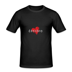 Amo Cerveno - Maglietta aderente da uomo