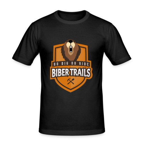 Biber Trails Classic Emblem - Männer Slim Fit T-Shirt
