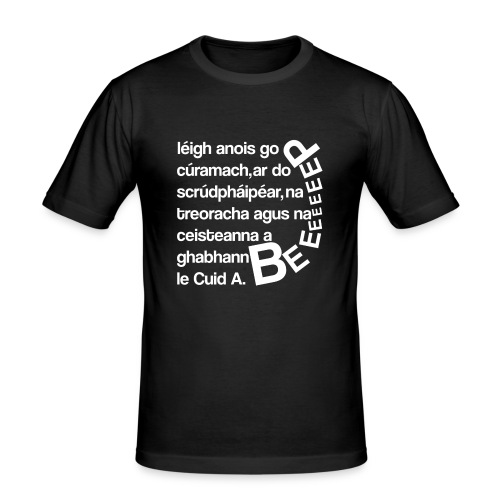 Gaeilge T-Shirt - Men's Slim Fit T-Shirt
