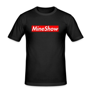 MineShow Box-Logo - Männer Slim Fit T-Shirt
