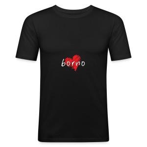 Amo Borno - Maglietta aderente da uomo