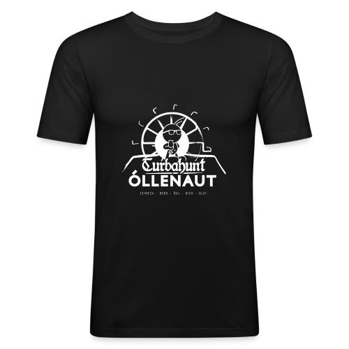 Õllenaut Turbahunt in white - Men's Slim Fit T-Shirt