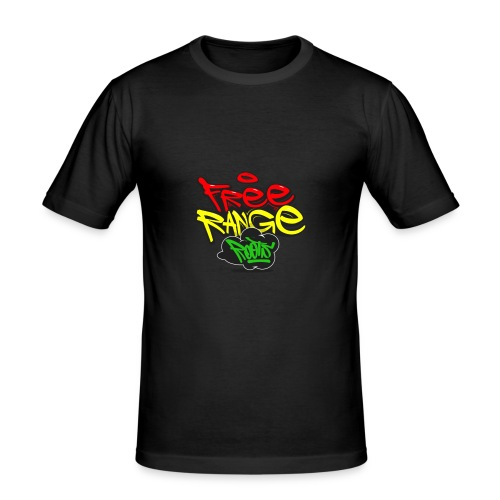 Freerange_Roots - Men's Slim Fit T-Shirt