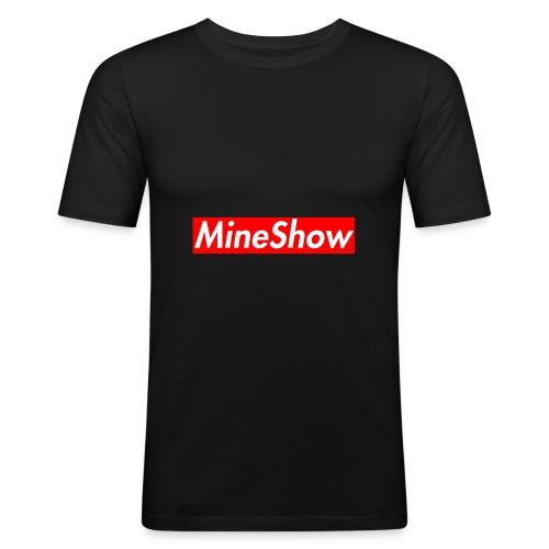 MineShow Box-Logo - Männer Slim Fit T-Shirt