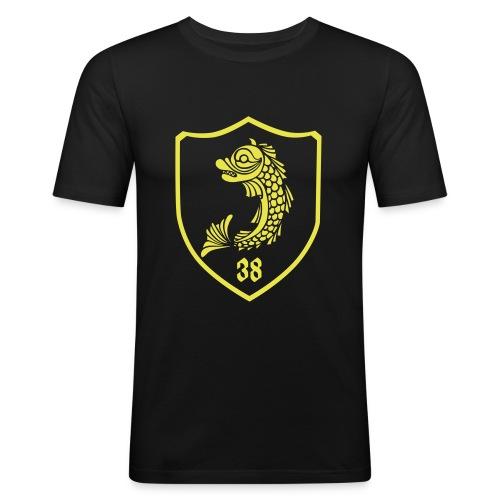 grenoble, dauphin blason 38 - Tee shirt près du corps Homme