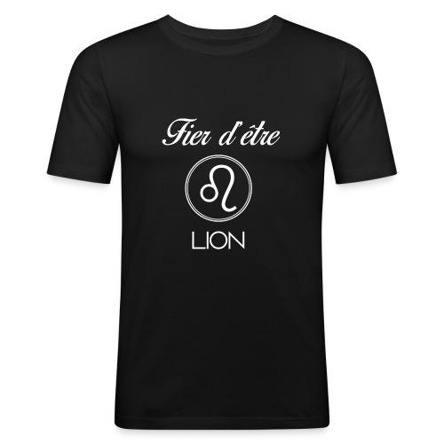 Fier d'être LION - T-shirt près du corps Homme
