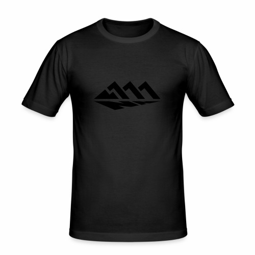 111NN schwarz - Männer Slim Fit T-Shirt