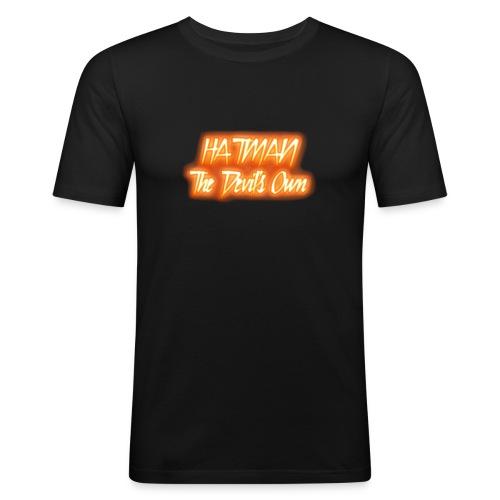 hatman devilsown text - Men's Slim Fit T-Shirt