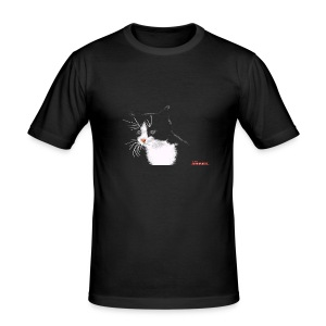 Cat FEMALE - Men's Slim Fit T-Shirt