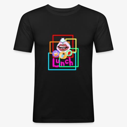 Lunch Tik.Tok tee - Men's Slim Fit T-Shirt