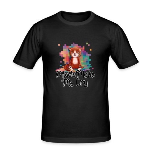 Pixel's Make Me Cry - Men's Slim Fit T-Shirt