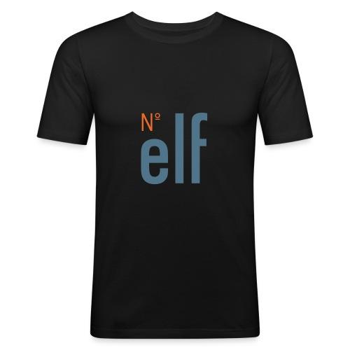 No. elf Logo - Männer Slim Fit T-Shirt