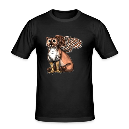 Bear Owl - The Cuter Cousin - Men's Slim Fit T-Shirt